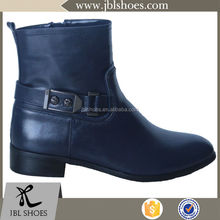 most famous black patent pu ankle boot wholesale for customized