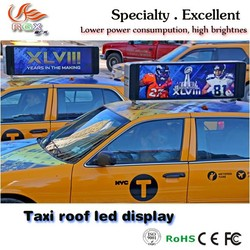 RGX-35 Outdoor led taxi top advertising display/led top taxi sign board