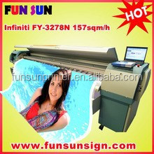 Infiniti FY-3278N 3.2m digital banner solvent printer ( with 4 or 8 seiko/510/50pl head,157sqm/h )