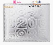 garcons silver embossed wallet