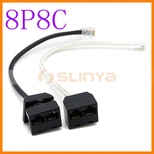 Rede cabo Splitter - RJ45 CAT5e 1 a 2 Splitter Cable
