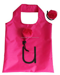Flower rose design eco wholesale fold up reusable shopping bags 6