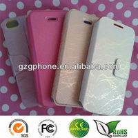 Macro fiber PU leather phone case for Samsung galaxy S4 mini