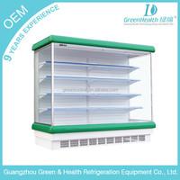 supermarket open display refrigerator remote compressor refrigerator