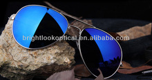 High quality metal sunglasses with mirror lens ,free sample