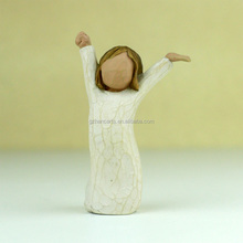 Polyresin Willow Tree Kindness girl small girl doll fashion with Courage home decorations
