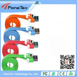 For iPhone 4, New iPad / iPad 2 / iPad, iPod 1m Zebra Pattern Noodle Flat USB Cable