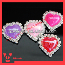 heart pearl brooches for hair band decoration