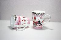 Beautiful lipstick mug ceramic espresso cups spain