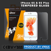 Vmax 10 year top quality anti-smudge anti broken 9H Mobile Phone / Tablet LCD tempered glass screen protector for Iphone 6s