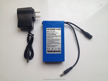 12V DC Rechargeable Li-ion UPS Battery Pack 6800mah Lithium Portable Small Power Supply for Christmas Lights, Led Strips