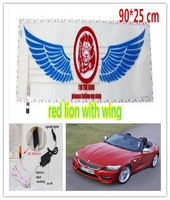 New Red Lion with wing design 12V LED Car Music Rhythm Lamp
