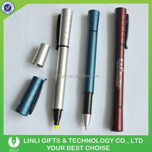 Simple ABS Plastic Ball Pen with Highlight