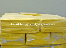 Needle punched nonwoven floor cleaning yellow TRAPERO (HY-FC004)