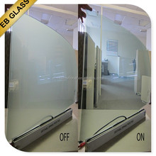 transparent switchable pdlc glass,Opaque treatment pdlc material smart glass EB GLASS BRAND