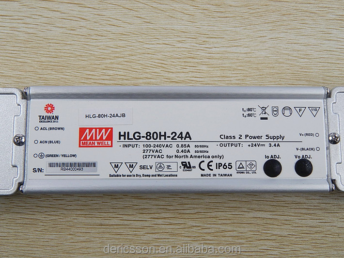80W LED power supply with junction box 24v output with 5 years warranty HLG-80H-24A