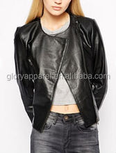 Selected leather biker jacket for women