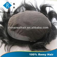 Golden Supplier Wholesale Virgin Human hair piece toupee for black men