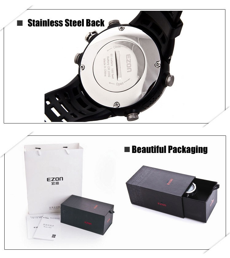 ezon watch H015 profession climbing smart sport wristwatch with measure altitude, humidity and reminder function