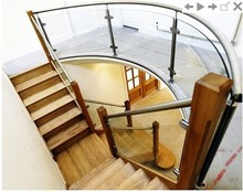 stainless steel stairs spiral/balustrade post