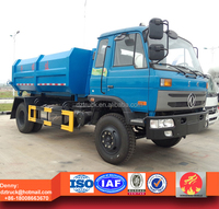 dongfeng high quality 8 ton Hook lift garbage container truck