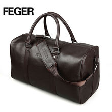 High Quanlity Genuine Leather Bag Big Volume Boarding Luggage