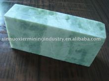 soapstone brick for decoration in white green color