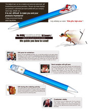 Ballpoint pen drawing cartoon vector clip/ Gel Ink Pen/For Exhibitions Training Hospital As Gifts