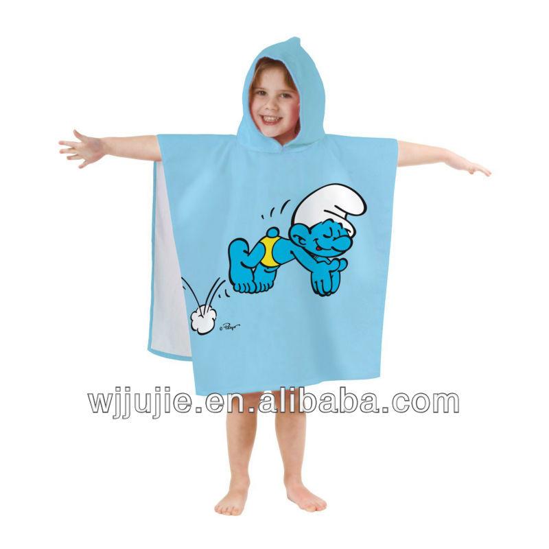 Poncho Baño Infantil:de dibujos animados para niños poncho toalla-Batas de baño