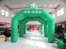 2015 green inflatable rainbow arch for advertising
