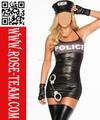 2015 New Arrival Sexy Halloween vestido extravagante do carnaval espalhe Em Cop Robber trajes para mulheres adultas dos homens e das crianças das crianças