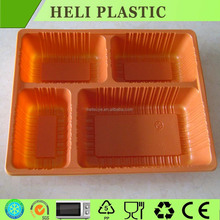 4 Compartments disposable plastic PP food tray /box