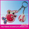 Custom logo direct factory cheap silicon hockey keychains