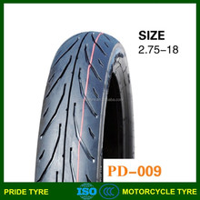 China good motorcycle tyre maunfacturer motorcycle tyre 2.75-18