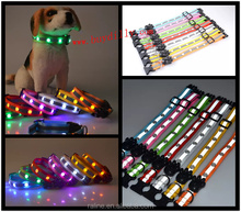 Great quality 300pcs Waterproof LED Jewel Flashing Pet Dog Leash With 6 LED Light Safety buckle for dog collar
