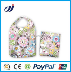 Direct Factory Manufacture reusable foldable bags with Velcro Pouch/small reusable bags/decorative reusable bags