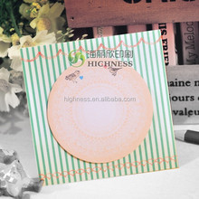 custom round shaped sticky note with customer logo for promotion/gift /school supplies