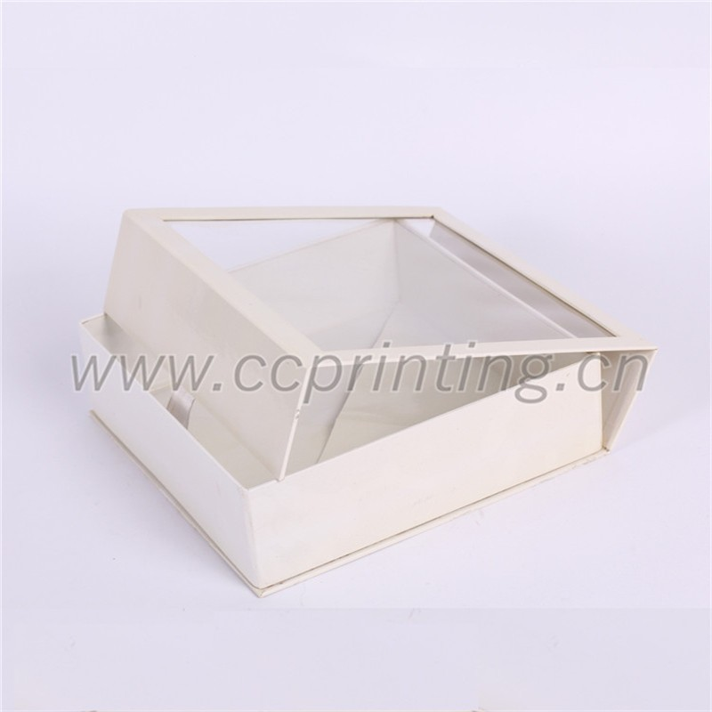 white cardboard foldable magetic box with PVC clear lid (2).jpg