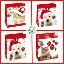 white cardboard material high quality paper xmas gift bag