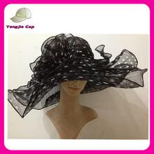wholeale de importación elegante sombrero de fiesta a la dirección de las señoras sinamay sombreros de la iglesia