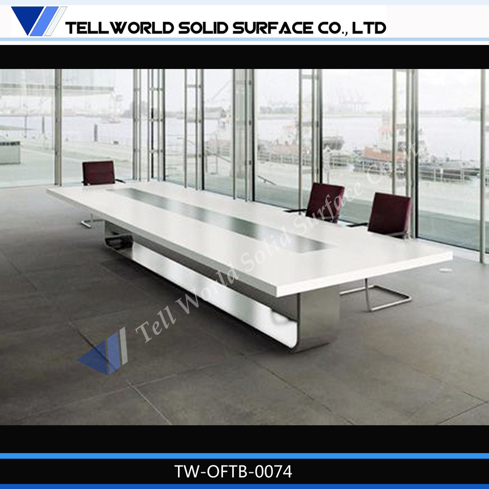 Office Meeting Furniture Marble Top Conference Table With Seater - Round conference table for 12