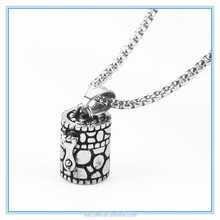 MECY LIFE stainless steel memorial jewelry cremation pendant for pets