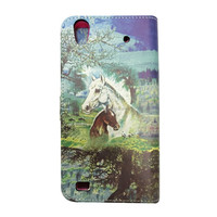 2015 Hot Selling Wallet Flip Book PU Leather Stand Case Cover With Card Slots For ZTE Quartz Z797C