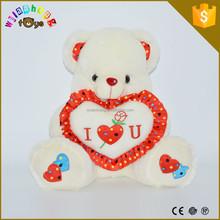 Hot Sale Custom Logo Skins Soft Toy Plush Teddy Bear With Pillow Heart