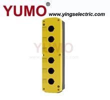 LAY5-JBPN6 IP54 six holes 22mm push button control box parts accessories enclosure