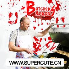 la costumbre baratos al por mayor de algodón personalizado divertido de cocina chef carniceros delantal de cocina