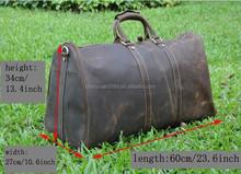 100% Crazy Horse Leather High-end Men's Messenger Travel Bag,Classic Single Shoulder Travel Bag