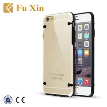 Colourful Ultra-Thin Clear Crystal TPU + PC Hard Phone Case Cover for iPhone 6