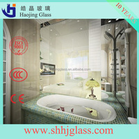 Haojing 1.1mm to 8mm Mirror Glass from silver coated or aluminum coated float glass, for home & commercial applications
