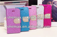 Bling Diamond Card Flip For iPhone 5G Wallet Case Cover